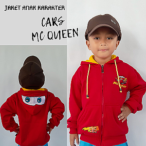 Jaket Anak Cars Mc Queen Merah